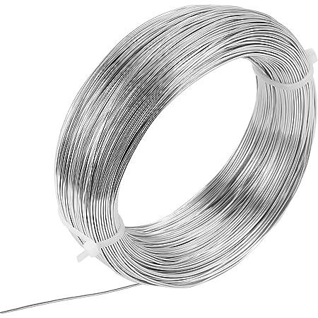 Dasorende 3Mm Aluminiumdraht 10M Craft Silberdraht f/ür die Schmuckherstellung Tonmodellierung Bonsai und Modell