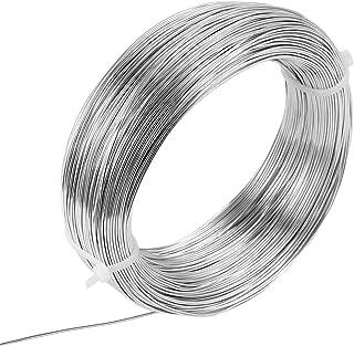 LEMESO 150m Alambres de Aluminio Moldeables 1 mm para Bisutería Formar Joyas Moldear Alambre Hacer Anillos Pendientes Puls...