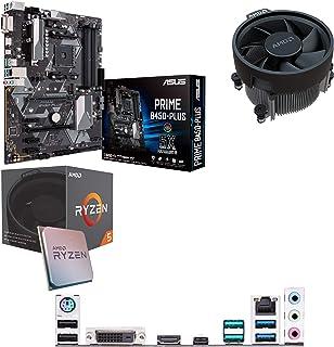 Components4All AMD Ryzen 5 1500 X 3,6 GHz (Turbo 3,7 GHz) fyrkärnig åtta gänga CPU, ASUS PriME B450-Plus moderkort förbygg...