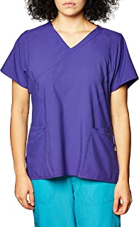 WonderWink womens Women's Mock Wrap Top Medical Scrubs Shirt
