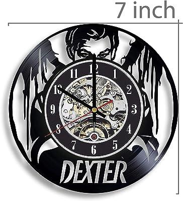 Dexter Vinyl Record Wall Clock, Dexter TV Series, Dexter Artwork, Dexter Decor, Dexter Wall Art, Dexter Home Decor, Dexter Gift
