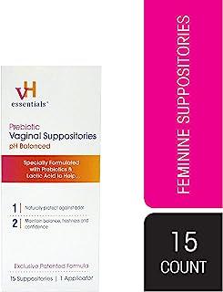 vH essentials Prebiotic PH Balanced Vaginal SuppositoriesBox, Original Version, 15 Count