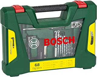 Bosch Home and Garden 2607017191 68 Piece V-line Drill Bit and Screwdriver Accessory Set with Folding Knife, Magnetic Stic...