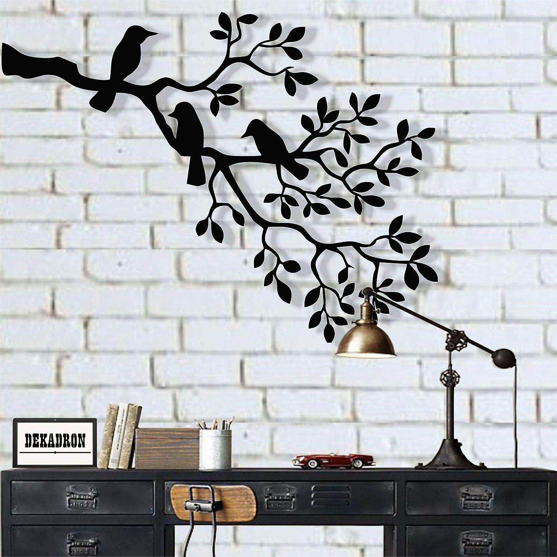 Metal Wall Art Metal Birds Art Metal Wall Decor Birds On Branch Birds Sculpture Unusual Gift Housewarming Gift Interior Decoration 36 W X 26 H 90x66cm Everything Else Amazon Com