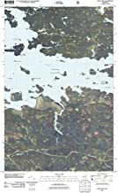 Minnesota Maps - 2011 Daley Bay, MN USGS Historical Topographic - Cartography Wall Art - 32in x 44in