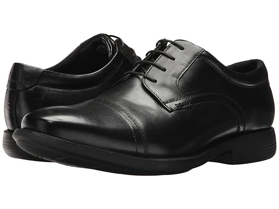 Nunn Bush Dixon Cap Toe Oxford with KORE Walking Comfort Technology (Black) Men