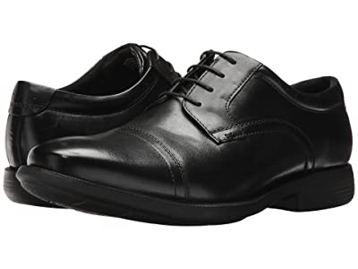Nunn Bush Dixon Cap Toe Oxford with KORE Walking Comfort Technology (Black) Men