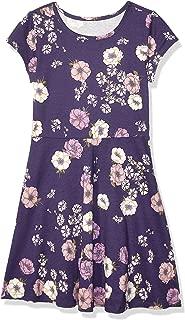 Girls' Big Short Sleeve Pleated Dress