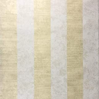 10m Portofino Italian Unique Luxury wallcoverings Embossed Striped Vinyl Non-Woven Wallpaper Beige Gold Metallic Stripes Modern Lines Textured Concrete Textures Rolls coverings 3D Paste The Wall only