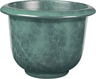 Novelty Round Moonstone Planter, Teal, 12-Inch