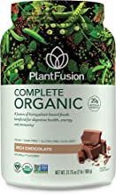 PlantFusion Complete Organic Plant Based Pea Protein Powder   Fermented Superfoods   Vegan, Gluten Free, Non Dairy, Soy Free, Chocolate, 2 LB
