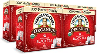 Newman's Own Organics Black Tea, 100 Individually Wrapped Tea Bags, 500 count (Pack of 5)