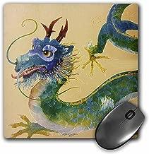 3dRose LLC 8x 8x 0. 25بوصة ، وسادة ماوس ، باللون الأخضر/الأزرق مطبوع عليها Dragon (MP _ _ _ _ _ _ _ 35191_ _ _ _ _ _ _ 1)
