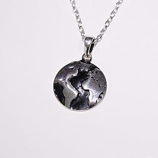 سلسلة خريطة العالم للنساء فضة عيار 925 ايطالى