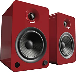 Kanto YU6 Powered Bookshelf Speakers with Bluetooth® and Phono Preamp (Gloss Red)