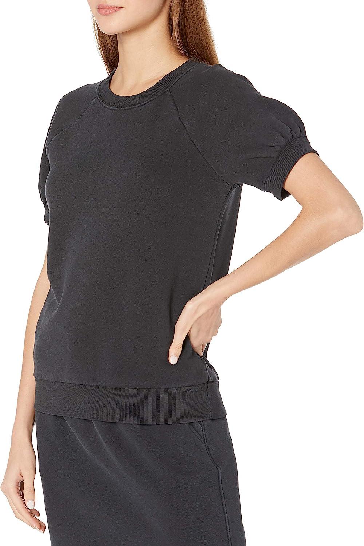 Amazon Brand - Goodthreads Women's Heritage Fleece Blouson Short-Sleeve Shirt