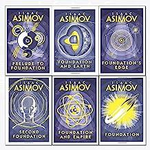 Isaac Asimov foundation series 6 books collection set - (foundation,foundation and empire,second foundation,prelude to fou...