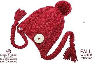 Cappello bordeaux in pura lana Iris - Realizzati a Mano - Made in Italy-HandaMade-Regali ragazza-Prodotto Artigianale-idee...