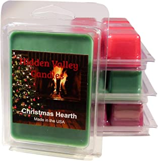 Hidden Valley Candles Christmas Holiday 4 Pack-Includes Our Best Holiday scents, Christmas Splendor, Christmas Cabin, Christmas Hearth, and Everybodys Favorite Christmas Tree