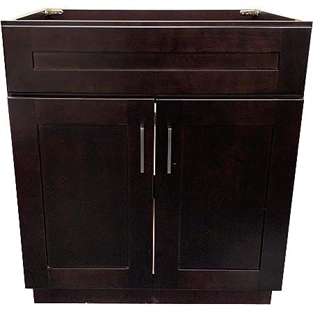 Amazon Com New Espresso Shaker Single Sink Bathroom Vanity Base Cabinet 36 Wide X 21 Deep Kitchen Dining