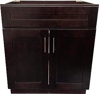New ESPRESSO SHAKER Single Bathroom Vanity Base Cabinet 24