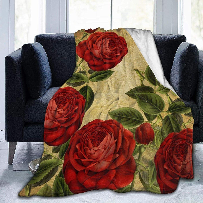 Vintage Ranking TOP15 Fashion Roses Fleece Throw Blankets Warm Micr Blanket Ultra-Soft