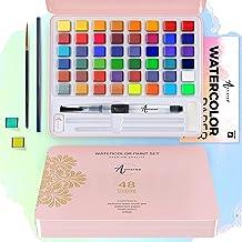 Zestaw farb akwarelowych, 48 żywych kolorów w blaszanym pudełku, w tym kolory metaliczne i fluorescencyjne. Farby akwarelo...