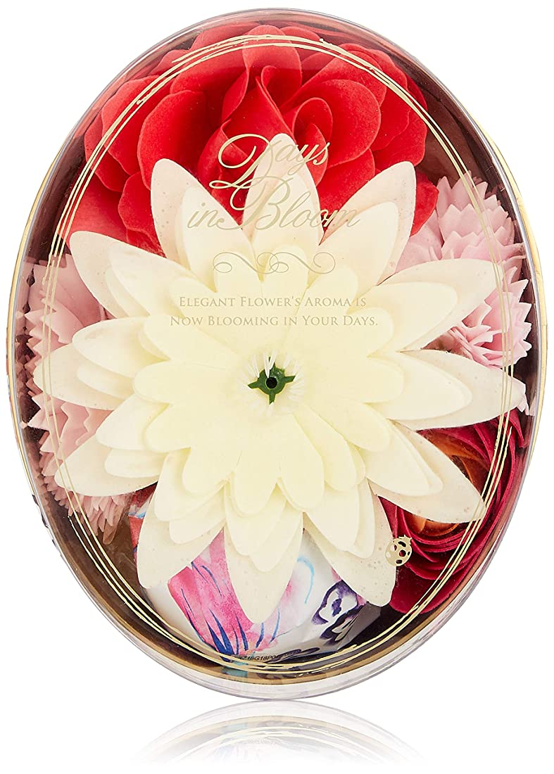 八百屋さんリングレット核デイズインブルーム バスセットオーバル ローズ (入浴料 お花の形のバスギフト)
