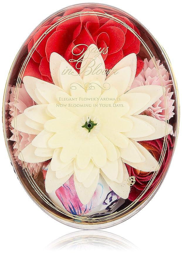 まっすぐ汚染する一致デイズインブルーム バスセットオーバル ローズ (入浴料 お花の形のバスギフト)