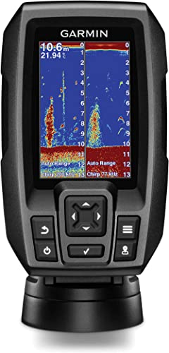 "Garmin 010-01550-00 Striker 4 with Transducer, 3.5"" GPS Fishfinder with Chirp Traditional Transducer"