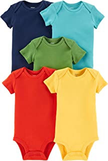 Carter's Baby Boys 5-Pack Short-Sleeve Original Bodysuits (Solids)
