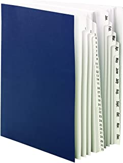 Smead Desk File/Sorter, Daily (1-31) and Monthly (Jan.-Dec.), 43 Dividers, Letter Size, Blue (89235)