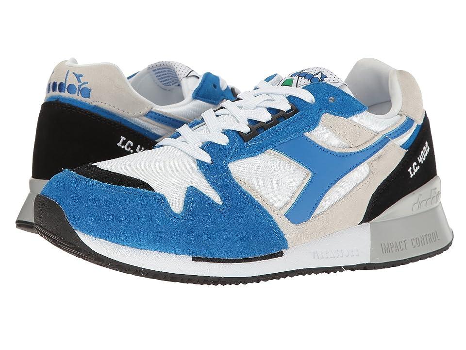 Diadora I.C 4000 NYL II (White/Princess Blue/Black) Athletic Shoes