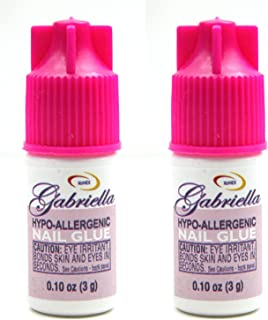 Gabriella Hypo-Allergenic Nail Glue .1 Oz (2 Pack)