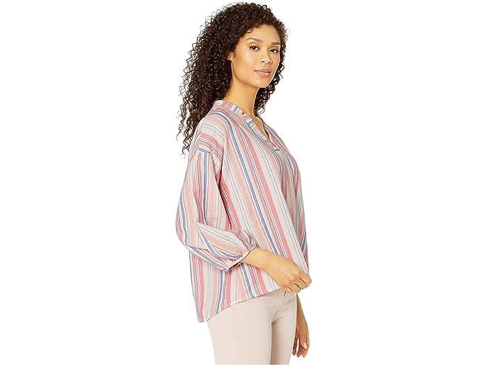 Mod-o-doc Cotton Stripe Shirting Peasant Blouse