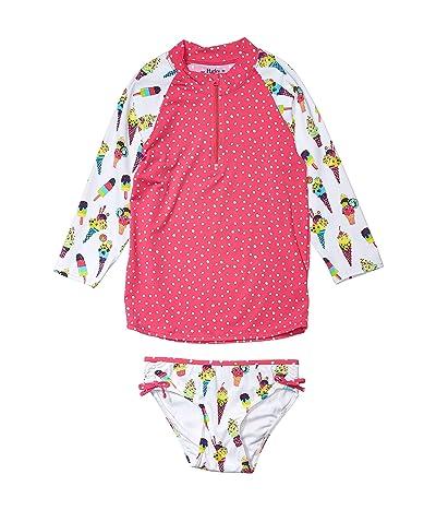 Hatley Kids Cool Treats Rashguard Set (Toddler/Little Kids/Big Kids) (White) Girl