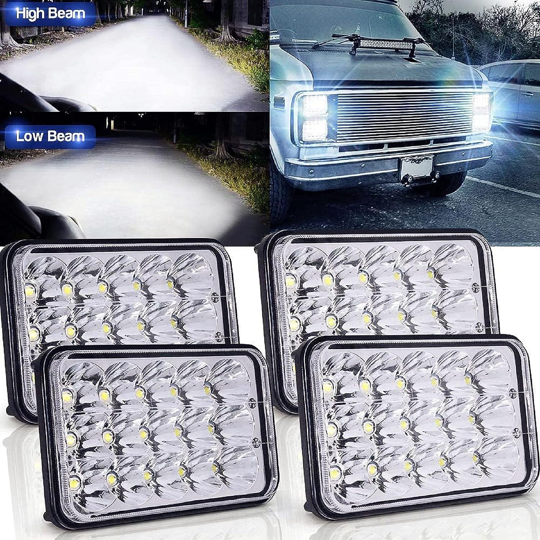 High Low Sealed Beam Headlights Long-awaited Headligh Same day shipping LED 4x6 4X Rectangular