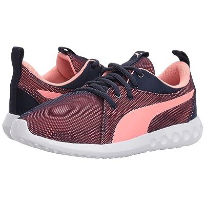 Puma Kids Carson 2 Breathe (Big Kid) (Peacoat/Soft Fluo Peach) Girls Shoes
