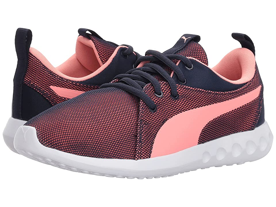 Puma Kids Carson 2 Breathe (Big Kid) (Peacoat/Soft Fluo Peach) Girls Shoes
