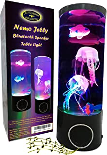 NEMO Jelly Bluetooth Speaker Table Light - Great Gift Unique Lava Lamp Color Changing LED Jellyfish Aquarium - Portable Wi...