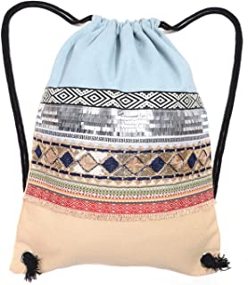 Folding Waterproof Drawstring Backpack gym Sack Cinch Bags for Shopping Sport Yoga