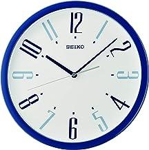 Seiko Plastic Wall Clock (36.1 cm x 36.1 cm x 3.9 cm, Blue)