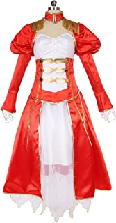 f38f600b94f Mtxc Women s Fate Extra Red Saber Cosplay Nero Claudius Formal Dress