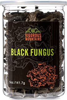 VIGOROUS MOUNTAINS Dried Black Fungus Woodear Mushrooms 5 Ounce