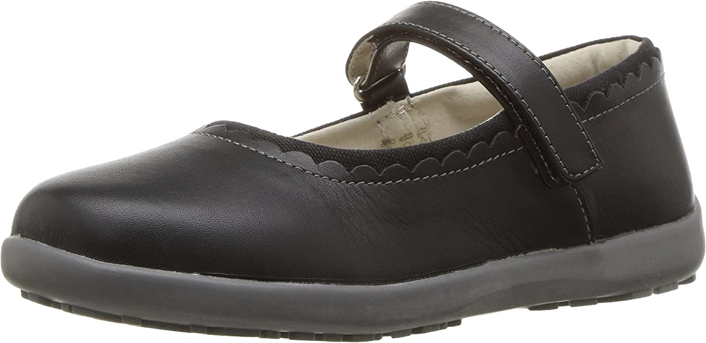 See Kai Run Girls Mary Jane Flat, Black, 9.5 M US Toddler