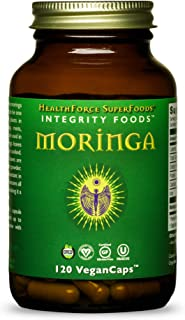 HealthForce SuperFoods Integrity Extract Moringa - 120 VeganCaps - Source of Vitamins, Minerals & Complete Protein - Certi...