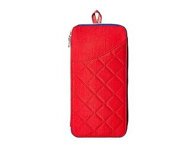 Baggallini RFID Travel Wallet (Red/Navy) Wallet Handbags