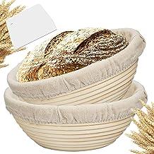 سلة طهي الخبز 22.86 سم من فاريلين إكس - هدايا وعاء الخبز للخبازين لإثبات سلال لمكشطة الخبز المخفوق من الخبز