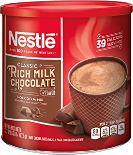 Nestle Hot Cocoa Mix, Rich Milk Chocolate (39 Servings), 27.7-Ounce Canisters (Pack of 3)