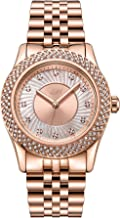 JBW Luxury Women's Carina J6368 0.12 ctw Diamond Wrist Watch with Interchangeable Bezels